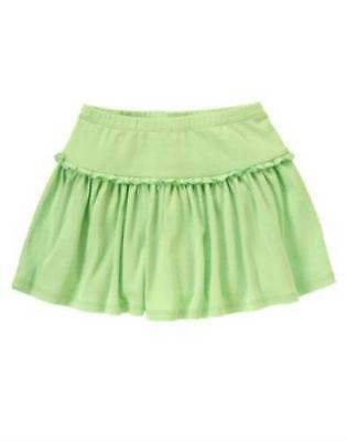 Gymboree NWT Island Lily Light Green Cotton Skort Size 3