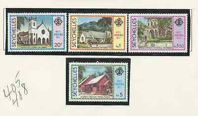 SEYCHELLES 4 SETS SCOTT #'s 321 TO 322a, 409 TO 412, 405 TO 408, 430 TO 433 MNH