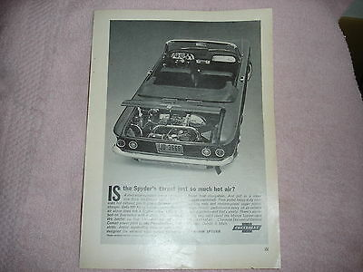 1963 Chevrolet Corvair Convert Car Ad from Popular Science Mag  June 1963 (3746)