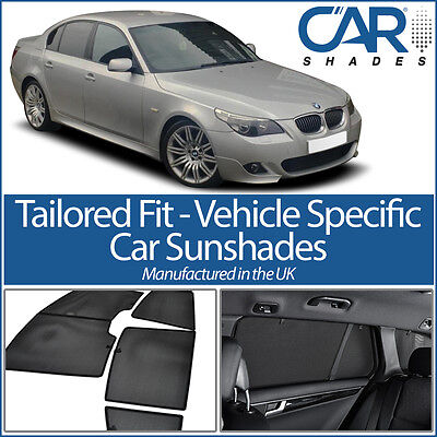 BMW 5 Series 4dr 2003-2010 UV CAR SHADES WINDOW SUN BLINDS PRIVACY GLASS TINT
