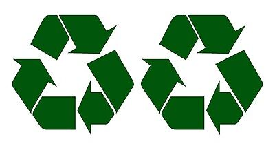 2 x RECYCLING LOGO SELF ADHESIVE VINYL STICKERS large