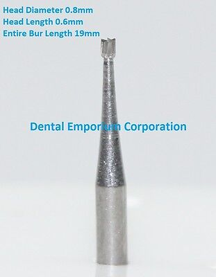 Dental Carbide Burs FG # 34 Inverted Cone for High Speed HP 10 per package