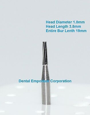 Dental Carbide Burs FG # 170 Tapered Fissure for High Speed Handpiece 10/pk