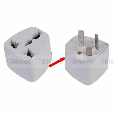 US America UK EU Europe to CN China AC Power Plug Adapter Travel Converter