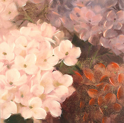 Fabrice de Villeneuve 'Flowers of Different..' Giclee Canvas Painting 40x40cms
