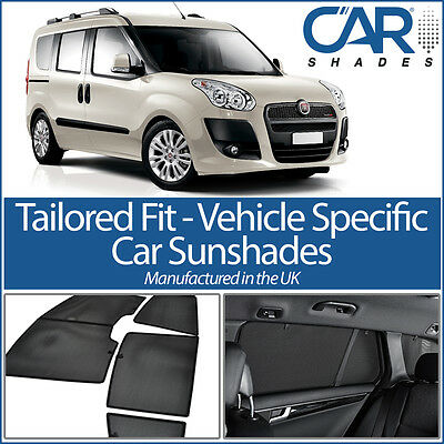 Fiat Doblo 5dr 2010-15 UV CAR SHADES WINDOW SUN BLINDS PRIVACY GLASS TINT BLACK