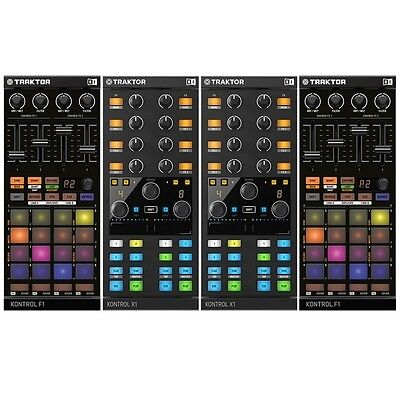 Native Instruments Traktor Kontrol X1 Mk 2 Pair & F1 Pair DJ Controller Package
