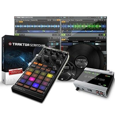 Native Instruments Traktor Scratch A6 & Kontrol F1 DJ Midi Controller Package