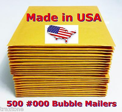 500 #000 4x8 Air Bubble Mailer Padded Envelopes Bags SelfSeal Usa - Light weight