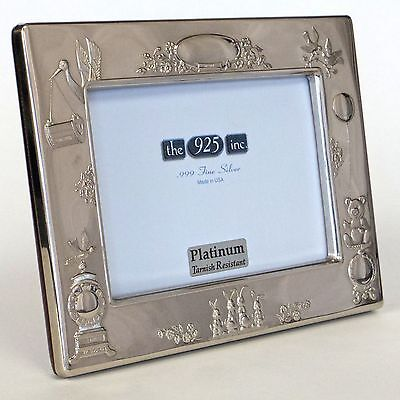 Baby Record Frame In Sterling Silver