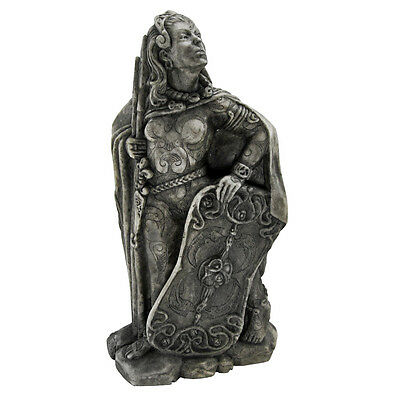 Small Morrigan Celtic Raven War Goddess Stone Finish  Dryad Design Statue Figure