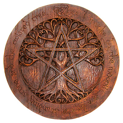 Large Tree Pentacle Plaque - Dryad Designs - Pagan Wicca Wiccan Pentagram