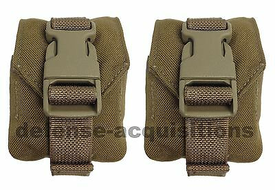 SET OF 2 NEW Eagle Industries MOLLE II Coyote Grenade Pouch MC-FGC-1-MS-COY USMC