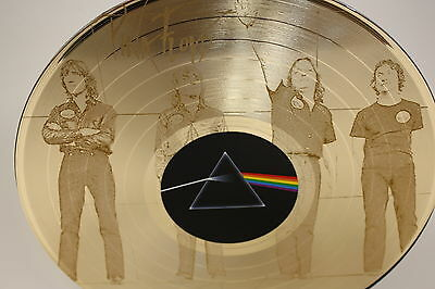 """Pink Floyd Gold Laser Etched Limited Edition 12"""" LP Wall Display"""