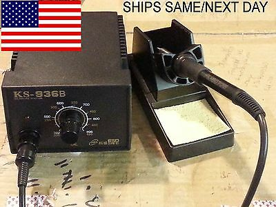936B ESD Solder Station + 50mm Solder Pot-120V + SN63A Solder Bar *FAST US SHIP*