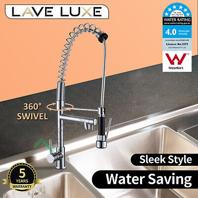LEAD FREE Kitchen Sink Basin Laundry Pull Out Swivel Mixer Tap Faucet Matt Black