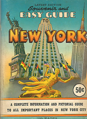 SOUVERNIR AND EASY GUIDE TO NEW YORK (1957) - Aaron Stone