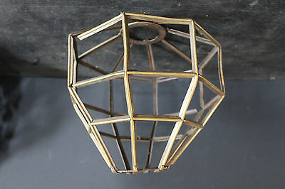 Cast Bronze Unusual Octogon Shaped Chandelier Part With 32 Panels 6804