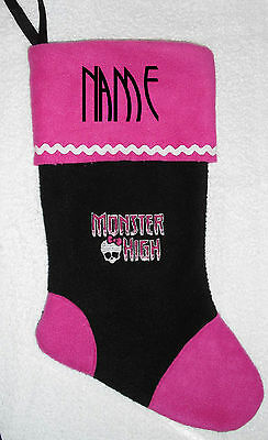 GORGEOUS PERSONALIZAT MONSTER HIGH 18 INCH CHRISTMAS STOCKING