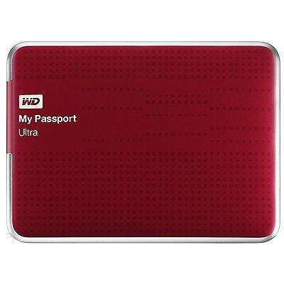 WD My Passport Ultra 2TB USB3.0 Portable Hard Drive w/ Auto Backup WDBMWV0020BRD