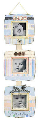 10 Frames - Bulk 5 x Hanging Baby boy photo frames, 5 x Hanging baby girl frames