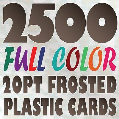 2500 Full Color Custom 20pt FROSTED PLASTIC BUSINESS CARD Printing Round Corners