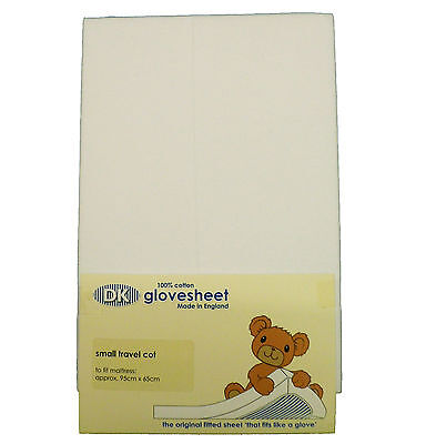 Fitted Jersey Cotton Travel Cot Sheet 95x65cm fits Graco, Mamas & Papas etc