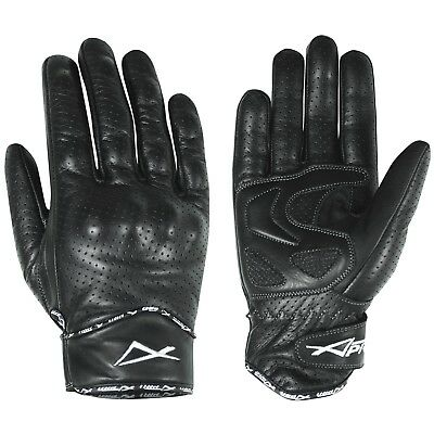 Protective Summer Motorcycle Motorbike Leather Gloves Racing Quality Black