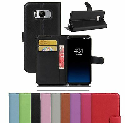 New PU Leather Flip Wallet Book Case Cover Pouch For Samsung Galaxy Mobile Phone