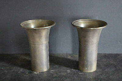 Large Antique Brass Vases / Inserts 6813