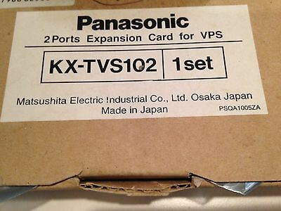 New - Panasonic KX-TVS102 - 2 Port Voice Mail Expansion