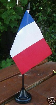 "French Hand Flag 6x4"" France Francais Wine Champagne Paris Rugby Football Sports"
