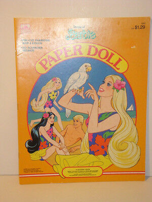 Barbie Tropical Paper Dolls Golden 1986 NEW- Complete