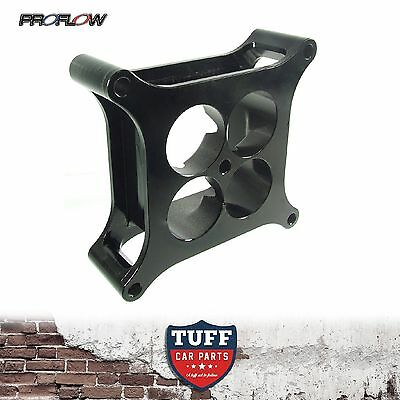 "Proflow Billet 2"" Black Super Sucker Carb Spacer Holley 4150 Alloy Cnc Machined"