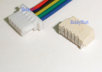 Micro JST 1.0mm SH 5-Pin Male Female Connector Housing with wire x 10 sets