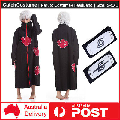 New Blood Red Naruto AKATSUKI ROBE cloak Uchiha Itachi cosplay costume Claok