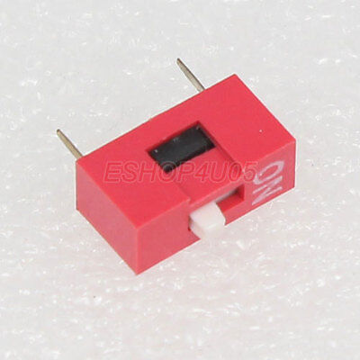 2 Pcs 1P 1 Position DIP Switch Side Style Through Hole DIY New