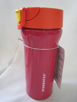 Japanese New Starbucks Handy Stainless Steel Tumbler Bright Red Japan