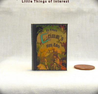 GRIMM'S FAIRY TALE 1:6 Scale Readable Illustrated Miniature Book Momoko Barbie