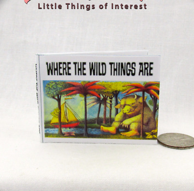 WHERE THE WILD THINGS ARE 1:6 Scale Readable Book Blythe Momoko Pullip Barbie