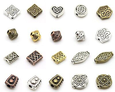 Celtic & Antique Style Beads - Many Shapes - Tibetan Silver Alloy