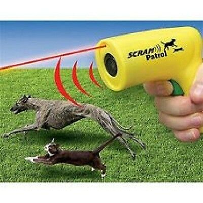 SCRAM PATROL SONIC ANIMAL CHASER, SCARE DOGS & CATS AWAY!