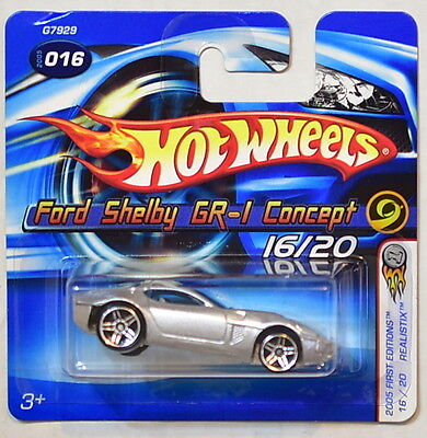 Hot Wheels 2005 First Editions Realistix Ford Shelby Gr-1 Concept Shortcard