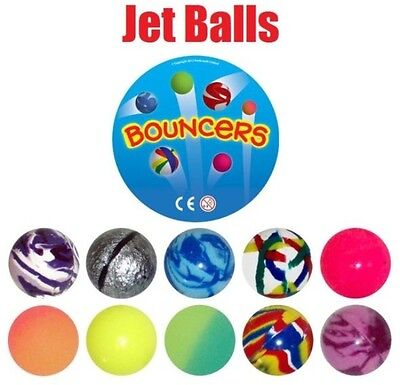 12x JET BOUNCY BALL CHILDREN KIDS LOOT GOODY PARTY BAGS PINNATA FILLERS TOY 35mm