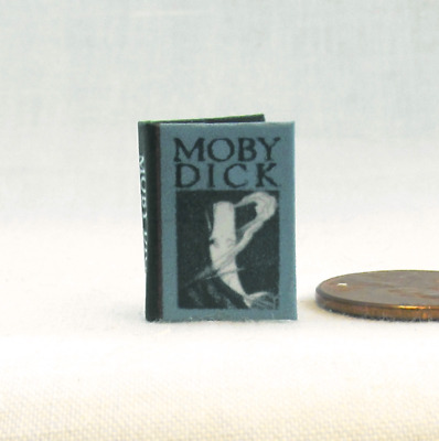MOBY DICK Miniature Book Dollhouse 1:12 Scale Illustrated Readable Book