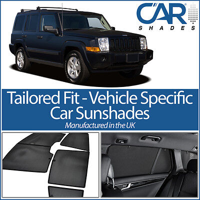 Jeep Commander 5dr 2006-10 UV CAR SHADES WINDOW SUN BLINDS PRIVACY GLASS TINT
