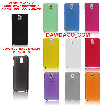 COVER ULTRA SLIM 0.3 CUSTODIA PROTEZIONE PER SAMSUNG NOTE 3 N9500 THIN COLORATA