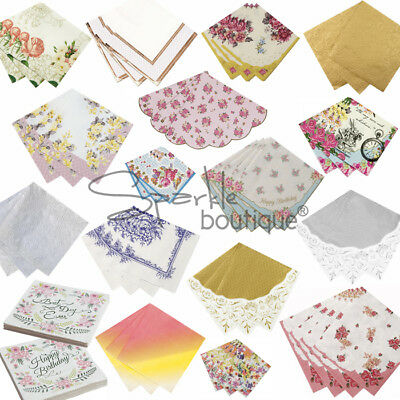 LUXURY PAPER NAPKINS - Shabby Chic / Vintage Style for Afternoon Tea / Hen Party