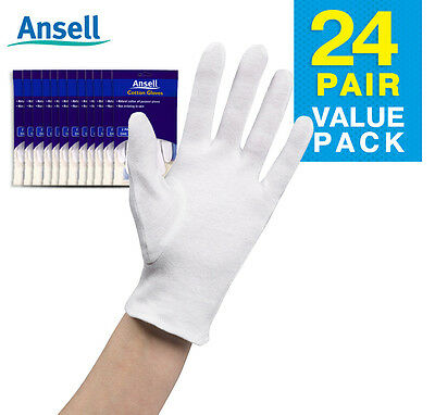 Ansell Cotton Gloves x 24 pairs