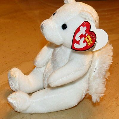 Ty Beanie Babies  Retired Heavenly Bear Angel Nwt~ Ages 3 & Up
